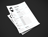 Cv Design - CV Template (White - Blue)