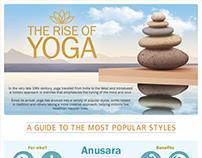 Yoga styles infographic