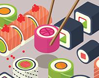 Isometric Sushi