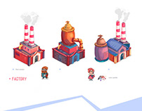 """Art for the game """"factories"""""""