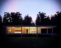 Farnsworth House with Corona Render