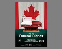 """Poster for documentary """"Funeral Diaries"""" Allfilm 2018"""