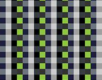 Free Illustrator Pattern - Pixel Black & White