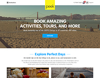 Peek.com // Redesign