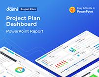 Dashi Project Plan Dashboard PPTX Report
