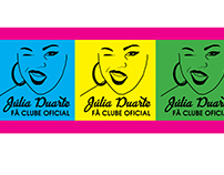 Júlia Duarte Fã Clube (Logotipo e ID Visual)
