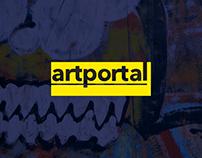 artPortal website redesign