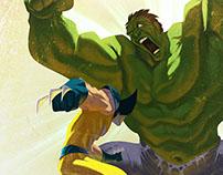 Wolverine vs Hulk Concept Cover