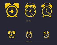 HD Alarm Icon Set