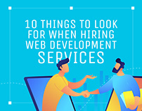 "Infographic ""Web development services"""