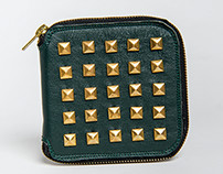 Studded Zip Wallet