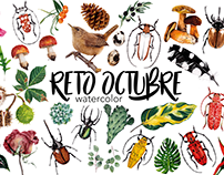 RETO DE OCTUBRE Watercolor