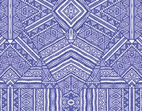 Blue Bold Aztec Print