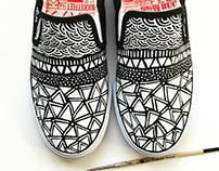 Earthy Layers Custom Bucketfeet shoes