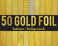 50 Gold Foil Textures / Backgrounds