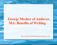 George Mosher of Andover MA: Benefits of Writing