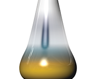 surreal iridescent vase; cad 3d design