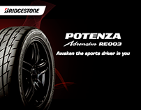 Bridgestone- Adrenalin RE003 Social Media