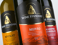 "TM and label design of ""Wine Standard"""