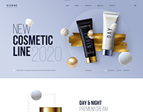 Cosmetic Landing for WordPress Theme.