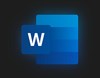 Icon Design: Recreating Microsoft Word Icon