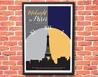 Midnight in Paris Graphic Movie Poster
