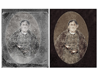 Restoration of a badly damaged photograph (c 1840)