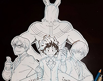 #Inktober2017 My Hero Academia Fan Art