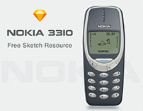 NOKIA 3310 Design - Free Resource (Sketch)