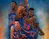 90s new york KNICKS smartphone lock screen wallpaper