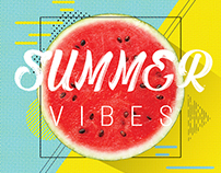 Summer Vibes Psd Flyer Template