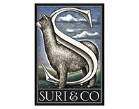 Suri & Co. Logomark illustrated by Steven Noble