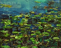 Collage -Unpretentious - 7 water lilies
