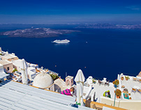 Greek Santorini Island camera spot