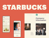 STARBUCKS — website redesign