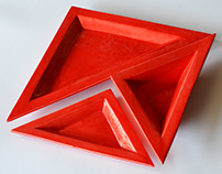 triangle ceramic plates