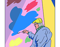 David Hockney Fan Portrait