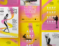 New York Women's Surf Film Festival – Visual Identity