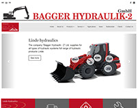 Corporate Custom Website Design - BaggerHydraulik.com