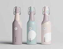 Matt Clamp Bottle Mockup