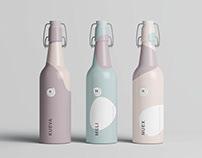 Matt Clamp Bottle Mockup