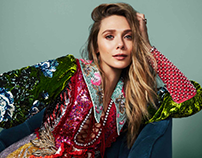Elizabeth Olsen Glamour Magazine by Rachell Smith