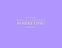Miscellaneous Marketing