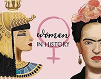 Women in History - illustrated booklet