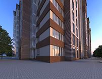 Housing facade design.