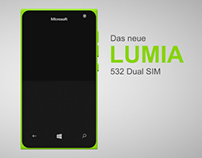 Microsoft Lumia mobile advertisement