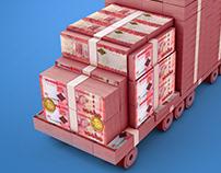 3D Money Truck
