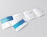 Square 4-Fold Brochure Mockup