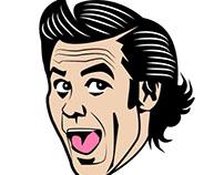 Jim Carrey vector portrait.