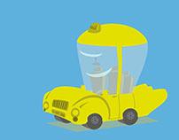 yellow car - taxi